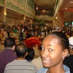 Exchange student watches Lion Dance